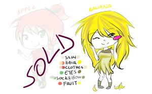 ADOPTABLES (Apple and Banana) - AVAILABLE by sucix