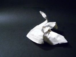 Swan backview - Origami by mitanei
