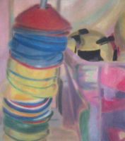 My Fifth Piece - Cones - Coloured Chalk by Courtneymc07