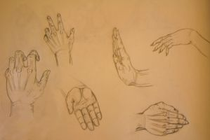 Hands Sketch by corazonprofano