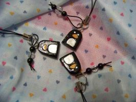 Cute penguin charms by the-only-halo
