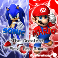 SONIC AND MARIO by MARSHOOD