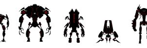 Robo Silhouettes by corndoggy