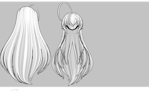 Messy N Long and Thick hair DL by amiamy111