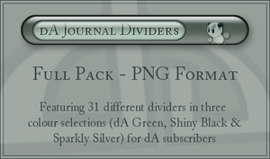 dA Journal Dividers - PNG by ClaireJones