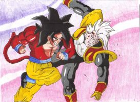 Goku V.S. Baby  color by dtwothaniel