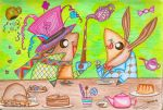 Piggies In Wonderland~! by DracoJane7