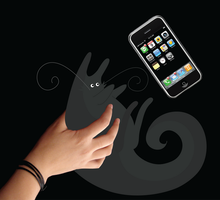 Catch the cell-phone nekoni by Azenor