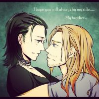 I hope you will always by my side ,my brother by danna2769