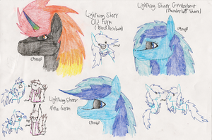 Lightning Sheer Headshots (Old New and GenderBent) by LPS100