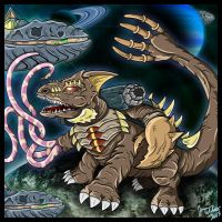 Cykor - The Undying Kaiju by earthbaragon