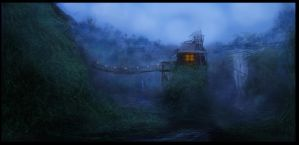 Jungle House Speed Painting by balajisan