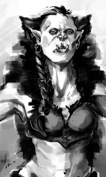 Female Orc by DeviantDolphinART