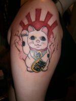 Maneki Neko Tatto by Nenetchy