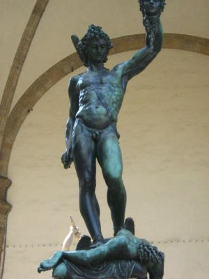 Perseus slays Medusa