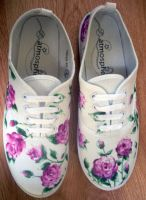 Floral sneakers by zuzyah