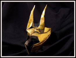 Loki origami helmet by WindMermaid