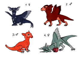 Dragon Adoptables 3 by RainFreckles