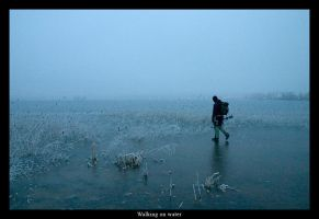 Walking on water by monochromic