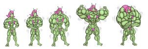 Ashlien Muscle growth sequence by gijohn20