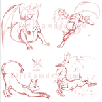 Sketch WIPs from live stream by KiriRamdeo