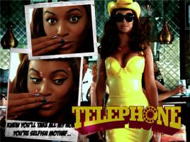 Beyonce on Telephone by Browneez
