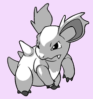 BASE 13 - It is just an uncoloured Nidorina by Rainfall-Bases
