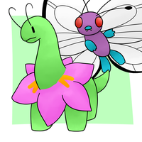 Meganium and Butterfree by Lexi247