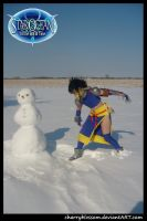 Albel vs. Evil Snowman by charry-photos