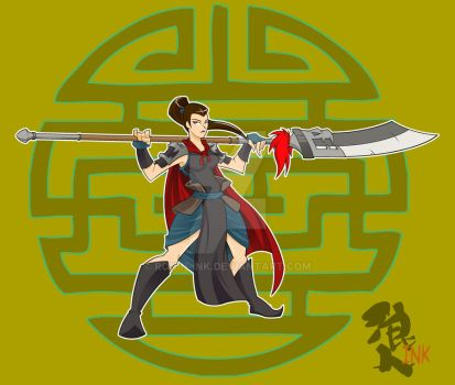Chinese Warrior (colored) by Ronin-ink