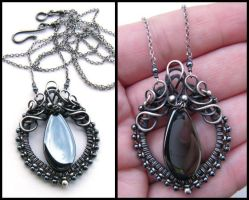 hematite pendant by annie-jewelry