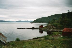 Cloudy day by the fjord by IcklePhoenix
