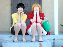 Ponyo And Sosuke: Waiting by The-Sexy-Roxas