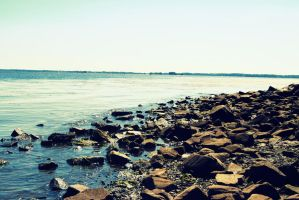 Rocky Shore by Vicarious-Trances