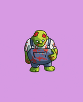 Fat zombie cannonballing animation by theonlyupriser