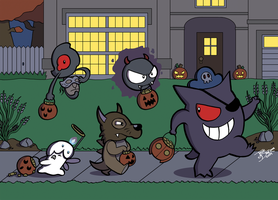 Trick or Treating Pokemon by JesseDuRona