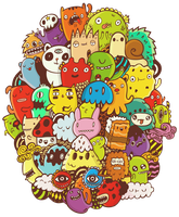 Colored Doodle by DoodleBros