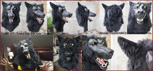 Snarly Werewolf Mask II by sugarpoultry