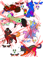 Cat/Feline Adopts Adoptables *CLOSED* by Galaxy-Gold