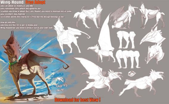 Wing-Hound Adoption: closed by Black-Wing24