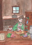 Making dinner by Artdirector123
