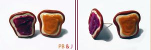 PB and J Earrings by mAd-ArIsToCrAt