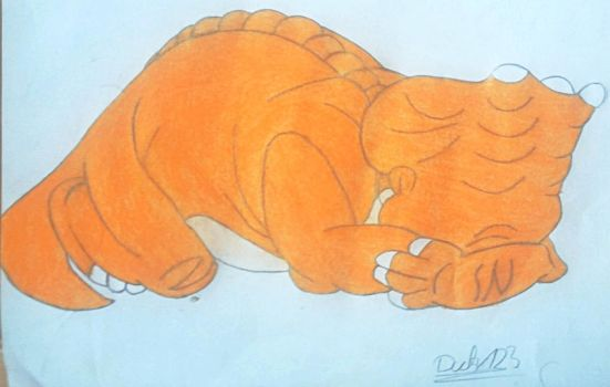 138 Cera is crying (coloured) by TheEvilHadrosaur