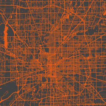 Indianapolis by MapMapMaps