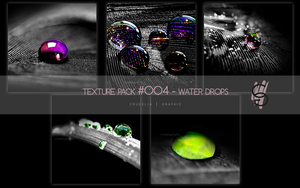 Texture Pack #oo4 - Water drops by MPepina