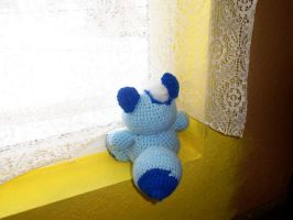 Little Blue Fox looking out the window by SunnyFaceMLP
