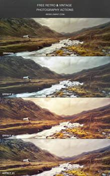 Free Vintage / Retro Photography Actions by frozencolor