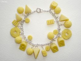 Cheese bracelet by OrionaJewelry