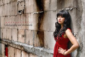 woman in red 2 by gagagonzales