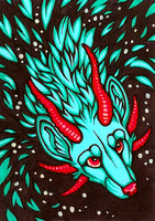 ACEO Calm Abyss by CanisAlbus